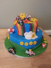 mario kart land birthday cake rainbow road (silkience72) Tags: road birthday cake rainbow princess peach super mario land kart luigi flickrandroidapp:filter=none