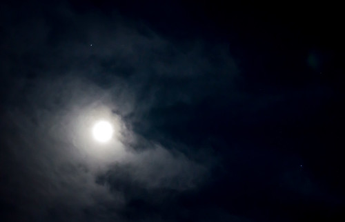 Saturn, Spica, and the Moon