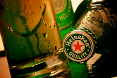 Quality Beer, Questionable Photography (Grant is a Grant) Tags: macro water beer glass dutch heineken droplets drops bottle nikon drop micro booze 105 nikkor lager hooch 105mm productphotography appleaperture d90 mmmbeer heinekenbeer drinkresponsibly heinekenlager aperture3