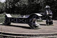 Tools (deep blue2) Tags: sculpture hammer walk steel portishead tools cyclepath wrench portbury nikon1855mm avonmouthbridge