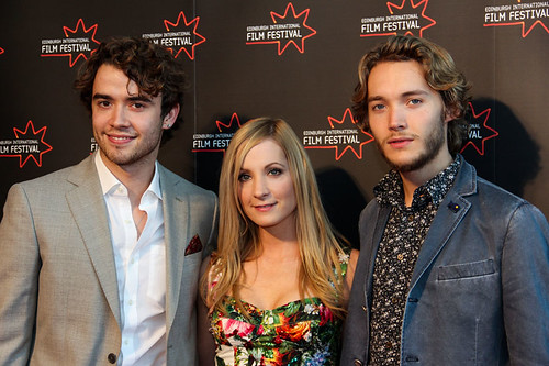 Jamie Blackley, Joanne Froggatt  and Toby Regbo at the UWantMeToKillHim photocall at Cineworld