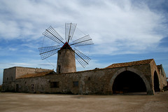 Saltern windmill (Davide Seddio) Tags: mill windmill day cloudy sicily nubia saltmaking saltern mediterraneanlandscape