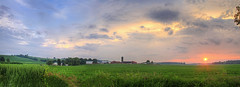 Summer Sunset (Matt Champlin) Tags: life sunset summer color nature clouds barn rural canon colorful warm peace dynamic farm pano july peaceful stormy farmland growth bigsky growing tranquil humid 2013 ruralfarmscene
