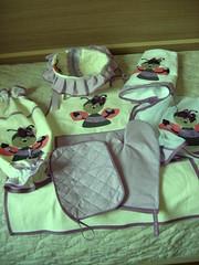 Kit de Cozinha (7 peças) R$ 140,00 (artebomartesanato@gmail.com (contato, encomendas)) Tags: kitdecozinha