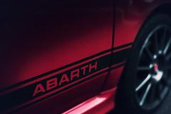 Fiat 500 Abarth (neosmultimedia.com) Tags: california red italy detail cars film sports coffee car logo italian close graphic fiat stripe strip rims vignette irvine abarth carsandcoffee
