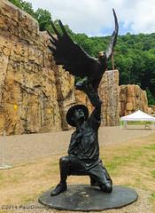 Sculpture @ The Rocks - Summit Bechtel Reserve, Mt. Hope, WV (Paul Diming) Tags: summer people sculpture statue unitedstates oakhill westvirginia bsa boyscoutsofamerica iphone5 pauldiming summitbechtelreserve 2013nationaljamboree