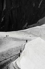 Route up Mont Blanc (benallenphotography.co.uk) Tags: white snow black mountains alps up nikon fance walk route and mont blanc d7000