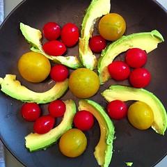 Avocado and tomato