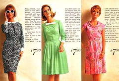 Sears 66 ss 3 dresses (jsbuttons) Tags: green vintage clothing 60s dress buttons sears womens 1966 dresses button catalog shirtdress sixties fashions doublebreasted