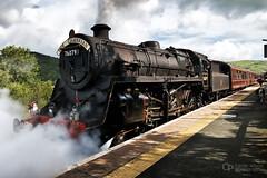 Cambrian Coast Express at Machynlleth (Oliver Wood Photography) Tags: wales steam locomotive railways 4mt britishrailways 76079 class4 flickraward