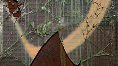 The world behind glass (ElsjeD - taking a little break) Tags: window glass amsterdam glas raam brokenwindow ndsm