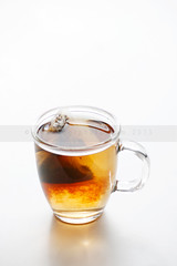 pu-erh (ggcphoto) Tags: whitebackground teabag puerhtea whitesurface clearglassmug