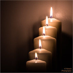 Five Candles Burning (Kevin HARWIN) Tags: uk england macro canon fire eos kent candles five south 100mm east 60d