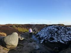 Kinder Scout - following the stream that flows over Kinder Downfall.... (stillunusual) Tags: uk england snow stream hiking derbyshire peakdistrict hike peat naturereserve rambling darkpeak moorland kinderscout