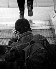 Back on track (Eduardo Chibs) Tags: barcelona street blackandwhite bw blancoynegro nikon candid bcn streetphotography ramblas rambla candidshot