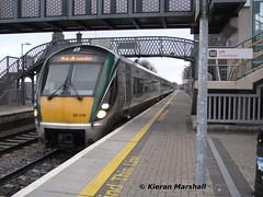 22016 arrives at Portlaoise, 30/11/13 (hurricanemk1c) Tags: irish train rail railway trains railways irishrail rok rotem portlaoise icr iarnród 2013 22000 22016 éireann iarnródéireann 3pce 1415heustonportlaoise