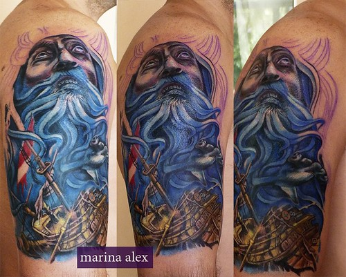 Sea Ship Poseidon Tattoo A Photo On Flickriver