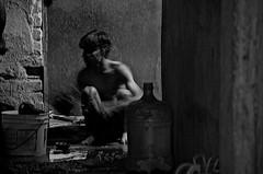 Slum by a cold winter night.... (New Delhices) Tags: bw india cold bathroom newdelhi arjunnagar