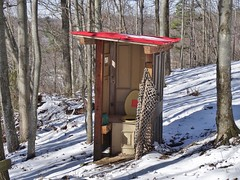 Winter Walk In The Woods (ThePoppa) Tags: winter house mountain snow cold john bathroom frozen woods hiking walk smoke toilet hike trail outhouse potty latrine privy