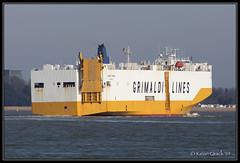 Grande Spagna (leightonian) Tags: uk island boat ship unitedkingdom isleofwight solent gb isle cowes roro wight iow vehiclecarrier