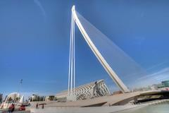 DSC_4014 (Joachim S. Mller) Tags: bridge espaa valencia spain calatrava brcke santiagocalatrava spanien espania ciudaddelasartesydelasciencias ciudaddelasartes stadtderknsteundderwissenschaften stadtderknste pontdelassutdelor puentedelassutdelor assutdelorbridge