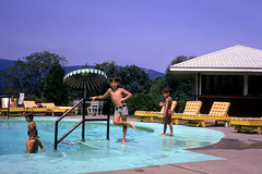 Tommy at the pool (epicharmus) Tags: ranch trip boy summer vacation ny newyork kid child upstate adirondacks resort lakegeorge upstatenewyork 1973 colorslide 35mmslide warrencounty daddino roaringbrookranch thomasdaddino robertdaddino