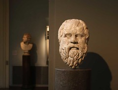 Head On (IanSeccombe) Tags: sculpture roman marble socrates britishmuseum sokrates hellenistic