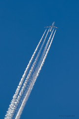 Sky in March 05 (Yury Augulis) Tags: sunset sky nature beauty clouds airplane evening march flying spring wings         2013    natureevents