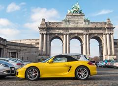 Porsche Boxster (Gregouill) Tags: 2014 201401 arche boxster cabriolet cinquantenaire convertible janvier phototimothée porsche voiture