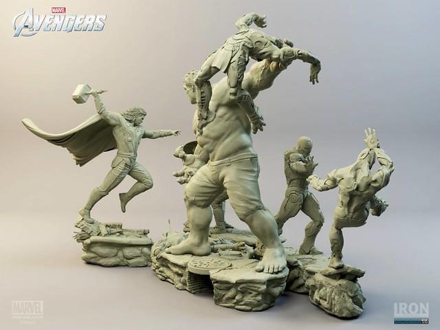 Iron Studios 復仇者聯盟戰鬥 場景雕像