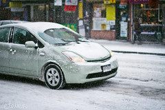 Freeze! (Eleven ~ NYC~ Teresa) Tags: city nyc newyorkcity snow storm motion ice car colorful slow teresaescamilla winter2014 elevensphotographs elevensphotography snowstorm2014