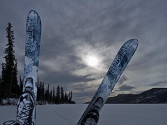 Back-Country Skiing (MIKOFOX  Show Your EXIF!) Tags: winter snow skiing yukon backcountryskiing bigfoxlake mikofox