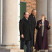 Monticello President Leslie Greene Bowman with President Obama and President Hollande in the West Portico