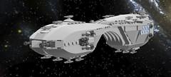 Koumori Carrier (EliteGuard01) Tags: lego space ships alien arches carrier ldd legodigitaldesigner koumori