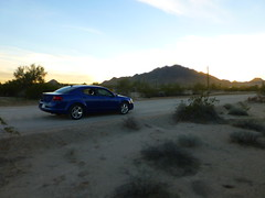 Blue Dodge Avenger at Buckeye Hills, AZ__P1090020 (Wampa-One) Tags: blue arizona car sedan automobile desert dodge 2012 bluecar rentalcar avenger dodgeavenger miniatureeffect 2012dodgeavenger