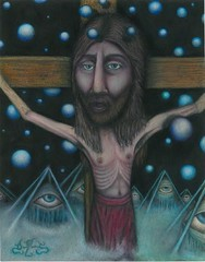 The Father, The Son & The Holy Spirit (Art-Visionary) Tags: eye pencil painting paper eyes christ cross faces god drawing jesus crosses drawings holy sacred spirituality spiritual crucifixion fuchs visionary jesuschrist prisma symbolist visionaryart holyplace christianart ernstfuchs fantasticart rawvision thelord spiritualart damianmichaels crucifixions artvisionary collectionartvisionary