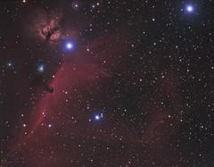 Horsehead Nebula 75m (Chuck Manges) Tags: nebula orion ngc2024 horsehead astrometrydotnet:status=solved qhyccd at65edq qhy9m astrometrydotnet:id=nova237162