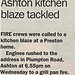 Grill Pan Fire kitchen blaze : World Exclusive © The Lancashire Evening Post - Our lawyers are watching !