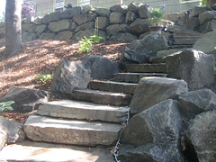 Natural Stone Staircase by Greenhaven Landscapes (greenhaveninc) Tags: landscape landscaping boulders staircase retainingwall lifescape stonestaircase outdoorstairs greenhavenlandscapesinc