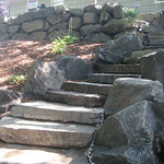"""Natural Stone Staircase by Greenhaven Landscapes <a style=""""margin-left:10px; font-size:0.8em;"""" href=""""http://www.flickr.com/photos/117326093@N05/12994560613/"""" target=""""_blank"""">@flickr</a>"""