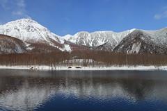 Lake Taisho, Kamikochi (satoson) Tags: mountain nature japan trekking    nagano kamikochi      wintertrekking   mthotaka canon5dmarkii mounthotaka laketaisho