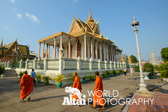 Monks Exploring the Silver Pagoda (Altai World Photography) Tags: silver temple pagoda asia cambodia buddha buddhist south monk buddhism east monks phnompenh southeast wat emerald khm keo phnom penh preah