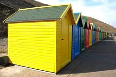 beach huts 2 (werewegian) Tags: beach colorful colours yorkshire hut whitby primary mar14 werewegian