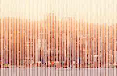 Hong Kong (kmwongdotcom) Tags: abstract blur colour art illustration landscape hongkong design perception view image harbour fineart picture victoria minimal line illusion strip form colourful minimalism pixels minimalist