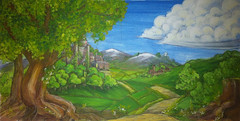 cloth design castle (nick_murley) Tags: new art illustration design scenery theatre drawing painted scenic backdrop shows cloth