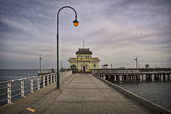 St Kilda Pier (Poppy GaGa) Tags: ocean seascape bay pier marine jetty australia melbourne victoria kiosk stkilda topaz portphillipbay stkildapier topazadjust