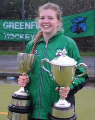 Ellie with Connacht Cup and Connacht League Trophy following the Connacht Cup Final 2014. (Greenfields Hockey Club) Tags: galway hockey womenshockey connacht cupfinal greenfields dangan greenfieldshockeyclub greenfieldshockey galwayhockeyclub galwayhockey irishhockey connachthockey connachtcupfinal