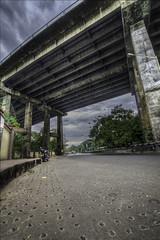 (8tariqkhan8) Tags: morning bridge india clouds dark cloudy motorcycle kolkata hdr calcutta royalenfield