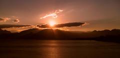Antalya Sunset (cagriozmen) Tags: city sunset sea mountains clouds turkey landscape view trkiye turkiye antalya