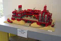 """M:Tron Magnet Factory at """"Brick by Brick"""" at the Morris Museum (Blake Foster) Tags: train artist factory lego space foster morris monorail blake magnet moc afol muesuem mtron"""